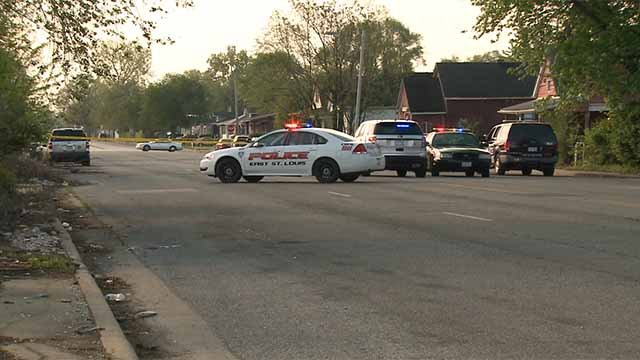 The body of a man in his 30s was found in the 1700 block of Martin Luther King in East St. Louis. Authorities said the man suffered from head trauma. Credit: KMOV