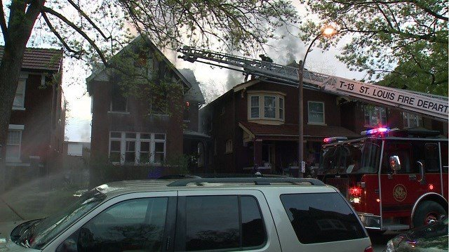 Firefighters believe a BBQ pit was the cause of fire in an occupied home in the 5800 block of DeGiverville Sunday morning. No injuries were reported. (Credit: KMOV)