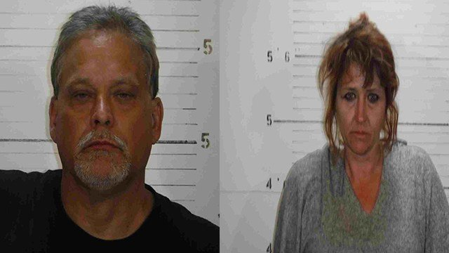 Ronald Simpkins, left, and Michelle Magac, right, were both charged with one count of burglary. ( Credit: St. Clair County Sheriff Department)