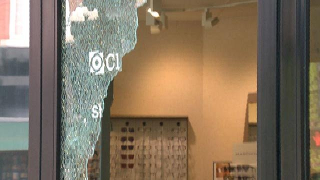 The Clarkson Eyecare on South Grand was damage Monday (Credit: KMOV)