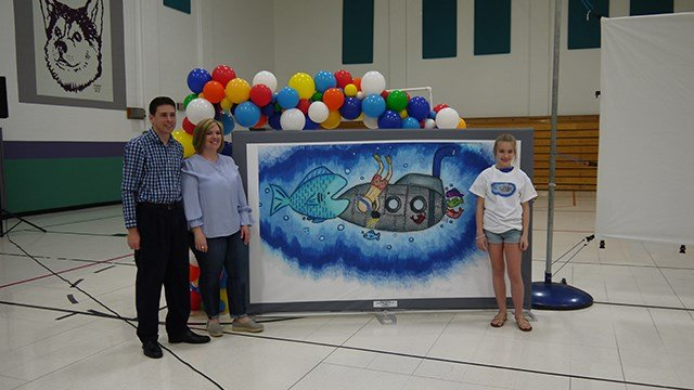 Abbie Chartrand of DuBray Middle School was chosen as a finalist for the Google Doodle contest. Voting for the contest end May 18. (Credit: Fort Zummwalt School District)
