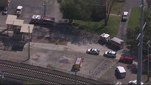 A gas leak shut down MetroLink trains in Maplewood and Shrewsbury Monday. Credit: KMOV