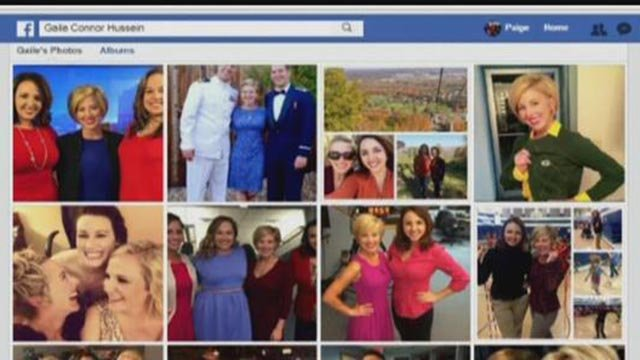 Reporter Paige Hulsey's photos used by a scammer using the name Gail Connor Hussein (Credit: KMOV / Facebook)