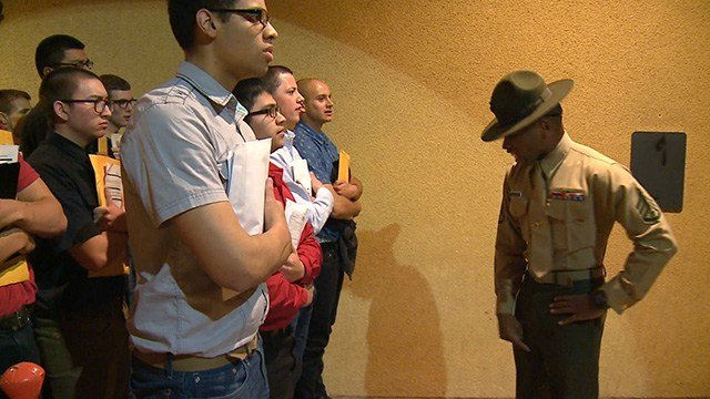Drill instructors shape recruits over 12 weeks to make them into Marines (Credit: KMOV)