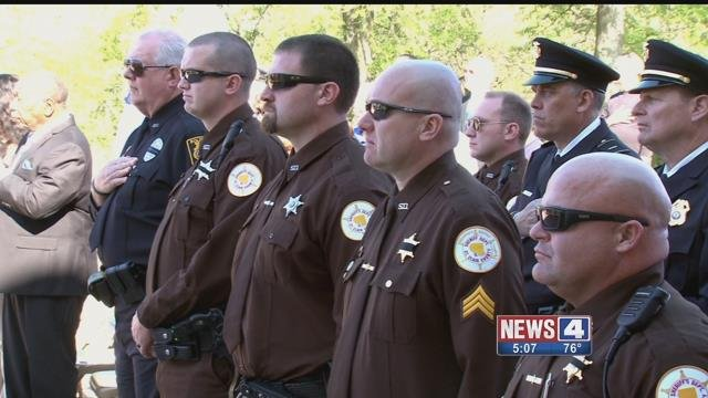 The St. Clair County Sheriff honors fallen officers every years. Credit: KMOV