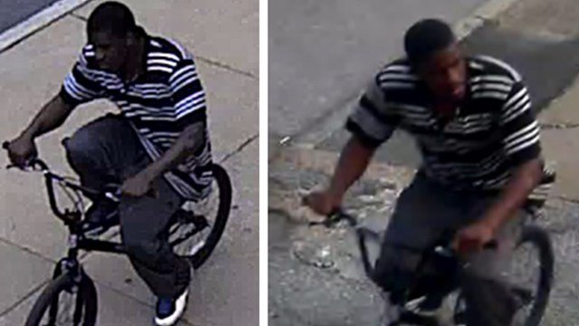 St. Louis police are searching a man seen riding a bike in the assault of an elderly man in the Central West End. (Credit: SLMPD)
