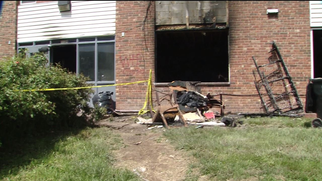 A man saved two after a fire broke out in his apartment complex Tuesday night. (Credit: KMOV)