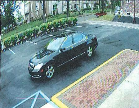The getaway vehicle was a black Mercedes S550.  (Credit: SLMPD)