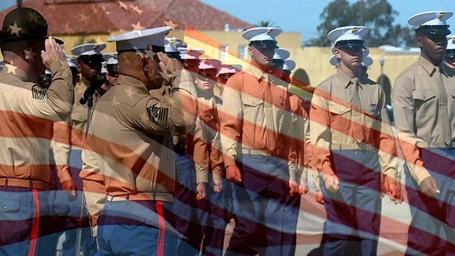 It's graduation day at Marine Corps recruiting depot San Diego.  (Credit: KMOV)