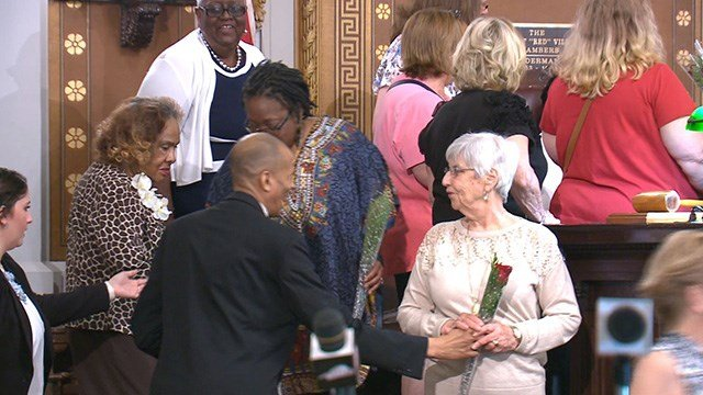 The moment was an effort to honor the work of moms to curb violence, but also acted as a call to action in St. Louis. (Credit: KMOV)