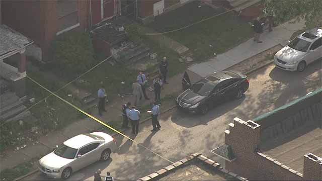 A 22-year-old man was shot in the chest in the 3900 block of Palm on Friday. Credit: KMOV