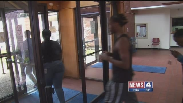 Track athletes from East St. Louis High School walked out of class Friday in an effort to reverse the district's decision to cancel the rest of the season. Credit: KMOV