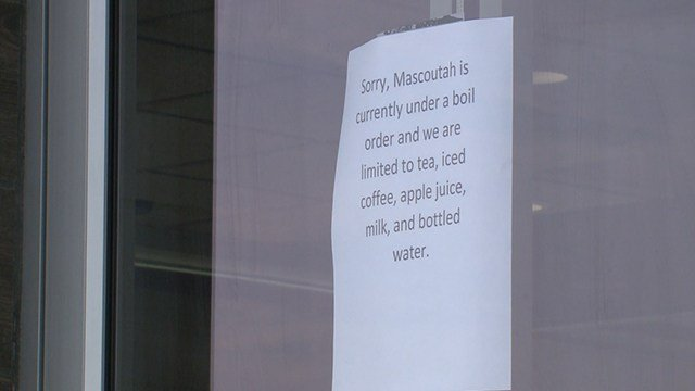 (Credit: KMOV) water main break has prompted city officials to declare a boil order for the entire area of Mascoutah.  (Credit: KMOV)