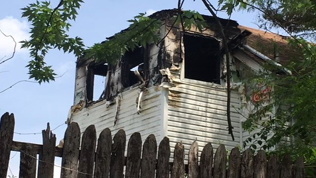 A person has died after a fire broke out in a two-story home.