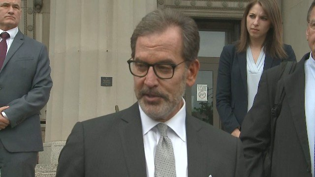 Scott Rosenblum, a lawyer for Missouri Gov. Eric Greitens, speaks after an invasion of privacy charg