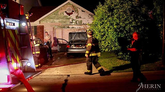 Firefighters in Cottleville rescued a man from a burning driveway (Credit: JHerin Photography)