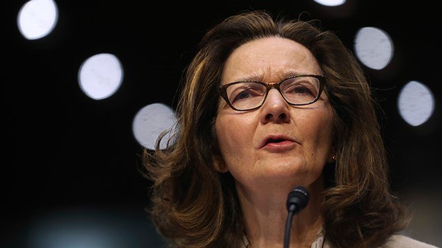In this May 9, 2018 photo, CIA nominee Gina Haspel testifies during a confirmation hearing of the Senate Intelligence Committee, on Capitol Hill in Washington. (AP Photo/Pablo Martinez Monsivais)