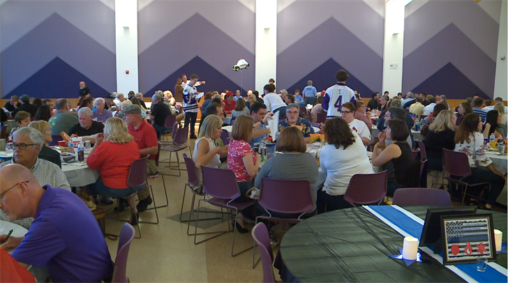 Dozens attended a trvia night to support Ofc. Crosby who paralyzed after being shot during domestic dispute call in 2010. ( Credit: KMOV)