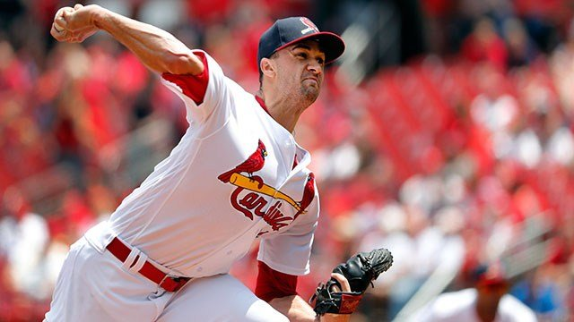 St. Louis Cardinals starting pitcher Jack Flaherty throws during the first inning of a baseball game against the Philadelphia Phillies Sunday, May 20, 2018, in St. Louis. (AP Photo/Jeff Roberson)