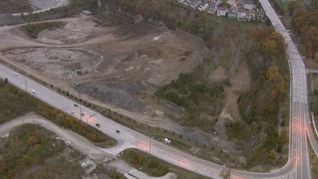 Skyzoom 4 view of the proposed waste transfer site in St. Charles. ( Credit:KMOV)