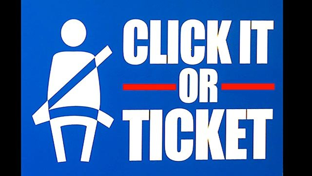 'Click  It or Ticket' logo (Credit: AP)