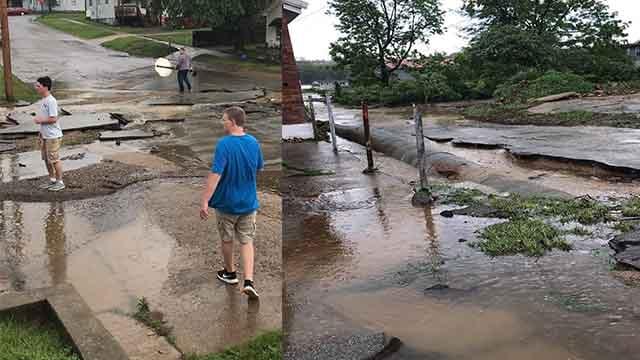 Park Hills flooding (Credit: Megan Thomas-Lynch on Facebook)