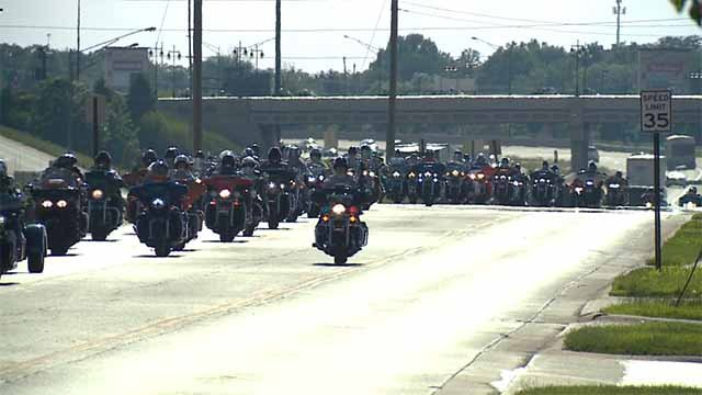 A massive group of veterans is riding motorcycles across the country to honor those who can't ride. Credit: KMOV