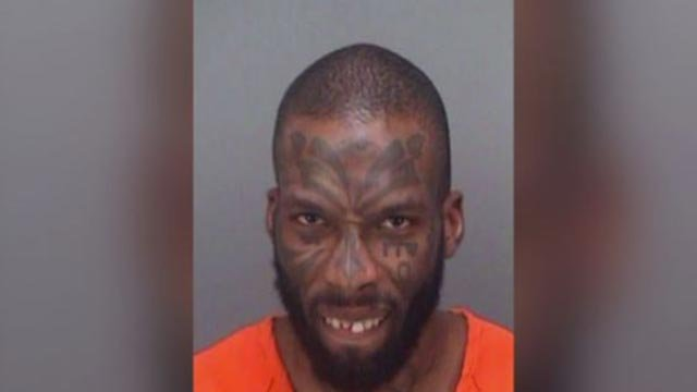 Otis Dawayne Ryan, 30, is accused of yelling a vulgar explanation of where babies come while on top of playground equipment in Florida (Credit: Clearwater Police Department)