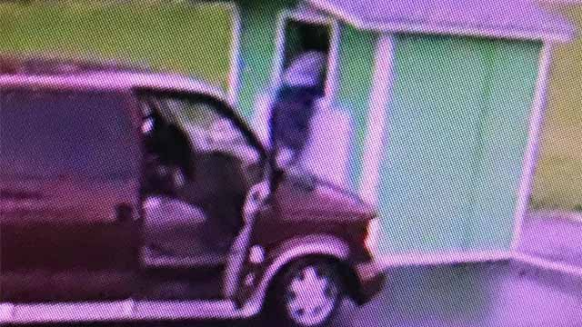 Thieves were recorded on surveillance video stealing donated used clothes from a donation bin at the Peace by Piece resale shop on Friday, May 18.
