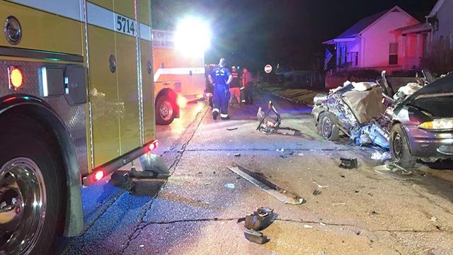 A fatal crash occurred on South 2nd Street at AmVets Drive in De Soto Tuesday (Credit: De Soto Police Department / Facebook)