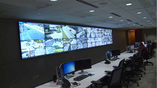 Cameras all around St. Louis City feed into the Real Time Crime Center, where officers can look at them in an effort to cut down on crime. Credit: KMOV