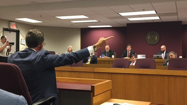 Al Watkins gives animated testimony in Thursday's special committee hearing (Credit: KMOV)