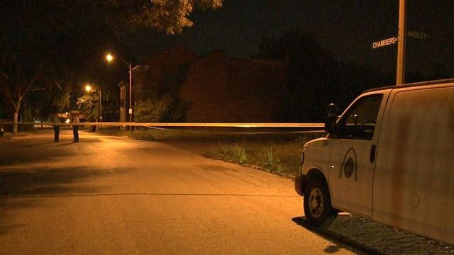 A man was shot and killed in the area of Hadley and Chambers in north St. Louis early Friday (Credit: KMOV)