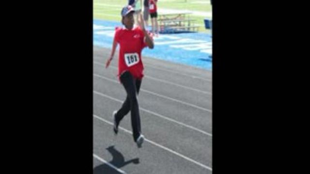 Still of a runner competing in the Senior Olympics (Credit: St. Louis Senior Olympics)