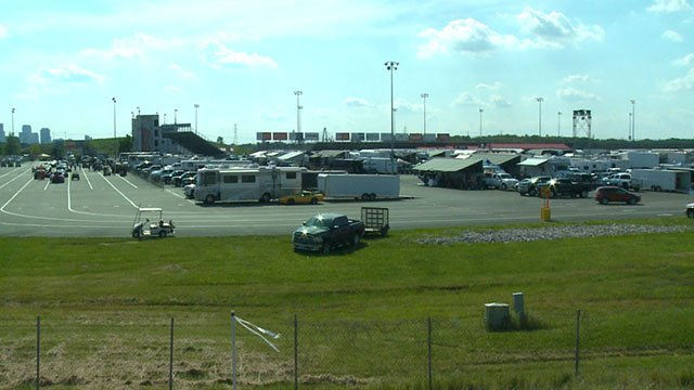 A serious accident at a Metro East race track has left one injured Saturday, police say. (Credit: KMOV)