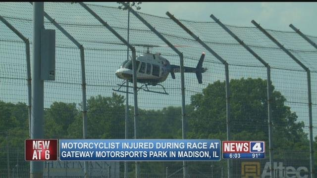 Motorcyclist injured at Gateway Motorsports Park in Madison, IL