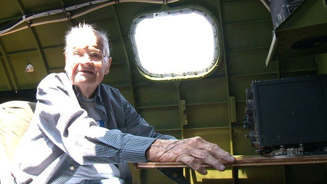 Retired Air Force Brigadier General Ron Youngs was aboard the Madras Maiden Monday for the right of a lifetime. (Credit: KMOV)