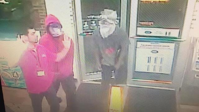 Surveillance photo of two suspects who robbed a Circle K in Belleville Tuesday (Credit: St. Clair County Sheriff's Department)