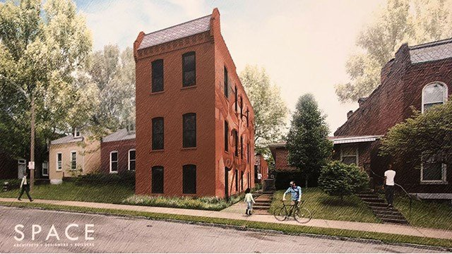The Kranzberg Foundation has secured 12 homes and 13 lots with plans of turning them into affordable housing and studio spaces. (Credit: Kranzberg Arts Foundation)