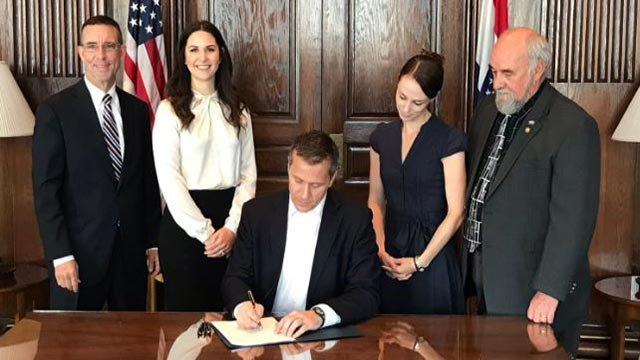 Gov. Greitens signed 77 bills into law before resigning Friday (Credit: Sheena Greitens / Twitter)