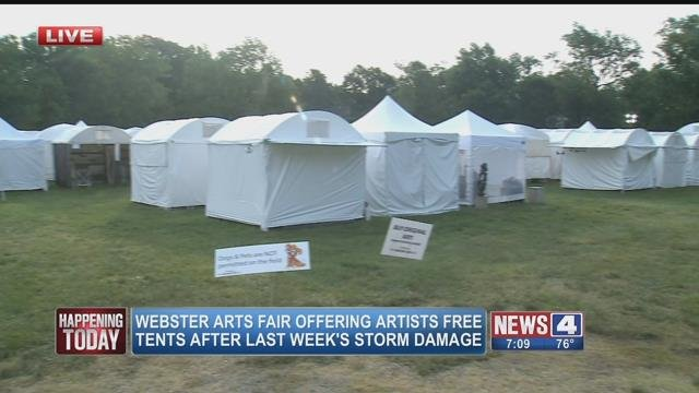 Seven of the 66 artists from the Schlafly Festival had tents at the Webster Arts Fair. (Credit: KMOV)