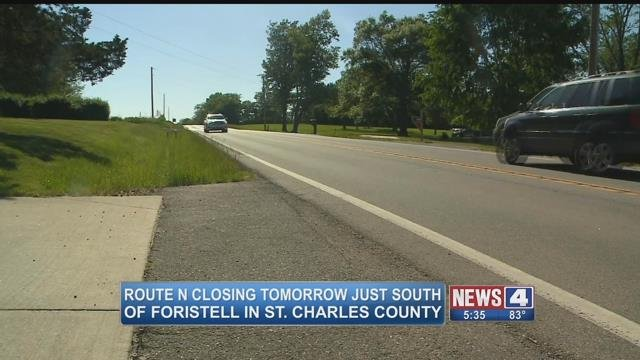 A portion of Route N will close in St. Charles County for the summer as MoDOT crews work to replaced a bridge. (Credit: KMOV)