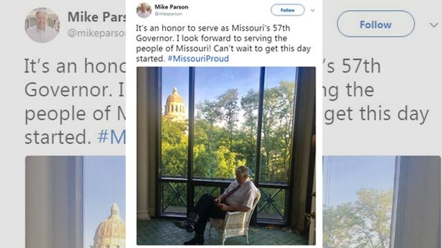 Missouri's 57th Governor tweeted Monday morning (Credit: Twitter)