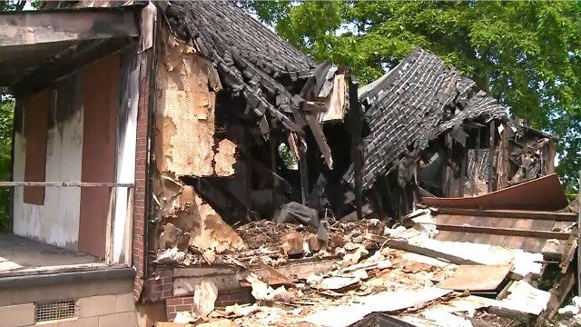 The building was located in the 5000 block of Genevieve in North St. Louis. (Credit: KMOV)