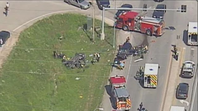 Police were called at 3:50 p.m. Friday to East 23rd Street and Television Place, an area just east of Interstate 435. (Credit: KCTV5)
