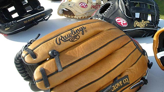 Rawlings baseball gloves (Credit: AP Images)