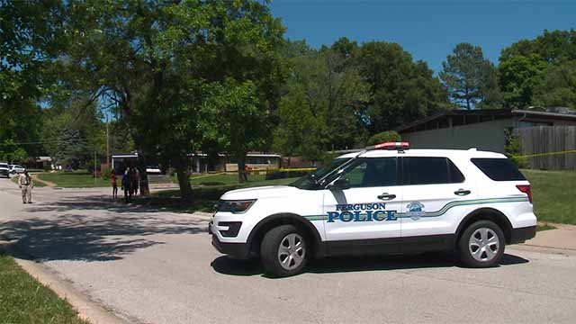 Police said two male victims were shot and killed in Berkeley in the 8300 block of Graybirch Drive on Tuesday. Credit: KMOV
