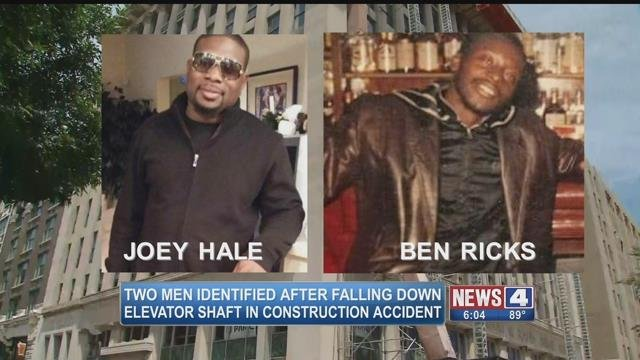 Joey Hale, 44, and Ben Ricks, 58, were killed after falling down an elevator shaft while on a construction project site in downtown St. Louis (Credit: KMOV)