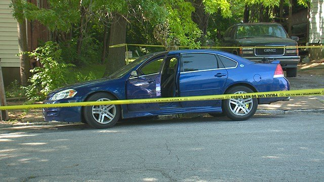 Homicide detectives were called to investigate after being notified of a victim shot in a car. (Credit: KMOV)