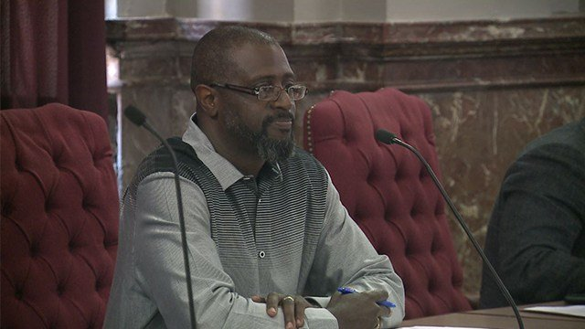 St. Louis city Alderman Jeffrey Boyd suggested cutting jobs from the treasurer's office to conserve city funds at the Tuesday meeting. (Credit: KMOV)